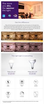 philips 65w equivalent soft white br30 dimmable led warm glow