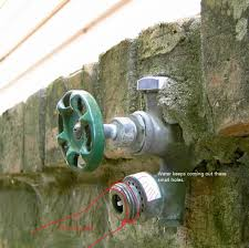 Fixing A Leaky Faucet Outside by Outdoor Water Spigot Leaking From Top Home Design Ideas