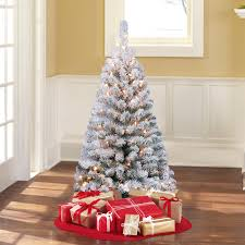 White Christmas Tree Walmartca by Holiday Time Pre Lit 4 U0027 Greenfield Flocked Pine Green Artificial