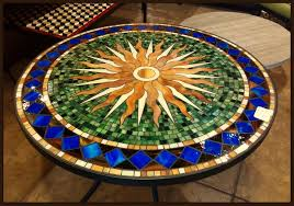 interesting mosaic tile patio table tile and glass mosaic tables