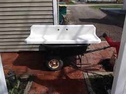 Vintage Youngstown Kitchen Sink by Youngstown Vintage Porcelain Kitchen Sink Farmhouse Double Drain
