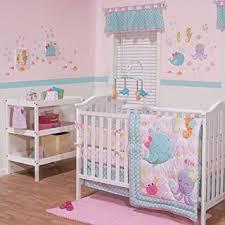 amazon com sea sweeties 3 piece baby crib bedding set by belle