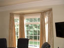 Gold And White Window Curtains by Curtain Rods For Bay Windows Homesfeed