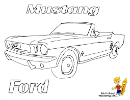 Download Coloring Pages Mustang Fierce Car Ford Cars Free Mustangs T Bird