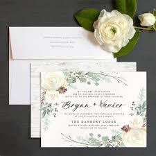 Rustic Botanical Wedding Invitations