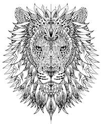 Lion Head Adult Coloring Pages Only