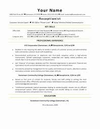 Cover Letter Healthcare Resume Template Valid Medical Assistant Front Office Receptionist Example Sample Templat Full