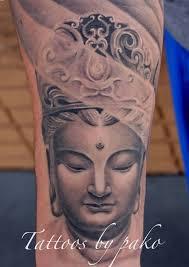 Asian Buddha Tattoo With Crown