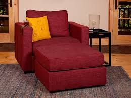 5 Series Armchair And Ottoman With Cranberry Tweed Covers Comfy ArmchairLovesac SactionalFurniture