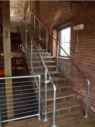 Industrial Pipe Galvanized Steel Handrail - KiteMedia.co   Office ... Best 25 Deck Railings Ideas On Pinterest Outdoor Stairs 7 Best Images Cable Railing Decking And Fiberon Com Railing Gate 29 Cottage Deck Banister Cap Near The House Banquette Diy Wood Ideas Doherty Durability Of Fencing Beautiful Rail For And Indoors 126 Dock Stairs 21 Metal Rustic Title Rustic Brown Wood Decks 9