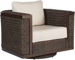 Epicenters Ebony Brentwood Wicker Outdoor Swivel Rocking Club Chair