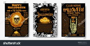 Quotes For Halloween Invitation by Halloween Costume Party Invitation Greeting Card Stock Vector