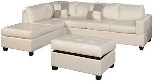 Poundex Bobkona Sectional Sofaottoman by Small Sectional Sofa