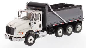 100 First Gear Garbage Truck International HX620 Dump In White With Gun Metal Grey Bed