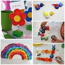 Handicraft Plastic Bottles Bottle Cap Lid Crafts For Kids
