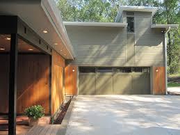 raleigh garage door exterior contemporary with green front