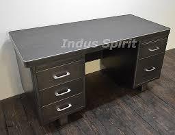 bureau industriel metal bureau bureau style industriel en métal et bois bureau