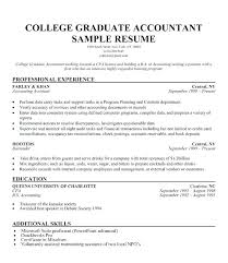 Sample Resume Graduate Example For School