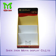 Full Color Printing Cardboard Display Box Retail Counter For Comic Books And Notebook