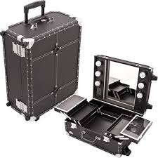 Rolling Makeup Case with Lights Buy Lighted Portable Studio