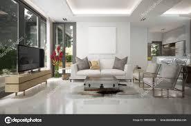moderne luxus wohnzimmer und speisekammer und essbereich