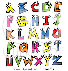 Clipart Colorful Alphabet Letters With Eyes Royalty Free Vector Cry2x0