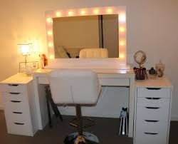 White Bedroom Makeup Vanity with Lights Decorate Bedroom Makeup