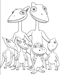 Dinosaur Train Coloring Pages Pteranodon Family