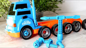 100 Big Truck Toys Toy Videos For Children Game For Kids Trucks For Kids Building Blocks