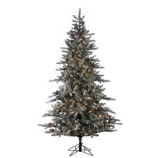 75 Flocked Christmas Tree by Sterling 7 5 Ft Pre Lit Lightly Flocked Mckinley Pine Artificial