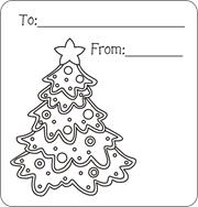 Christmas Tree Gift Tags Holly Printable