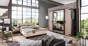 lifestyle4living schlafzimmer komplett set in silber eiche