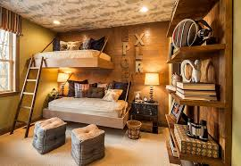 View In Gallery Space Saving Beds And Brilliant Lighting Revamp The Aura Of Rustic Bedroom Design