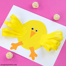 Simple Easter Chick Paper Craft