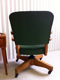 Acrylic Desk Chair With Cushion by Junk2funk Mid Century Wood Green Desk Chair