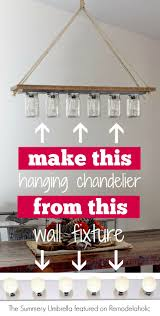 DIY Chandelier From Hollywood Style Vanity Light