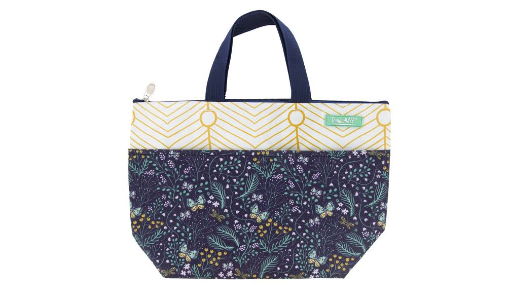 TempaMATE Trendy Thermal Insulated Lunch Bag Navy Floral