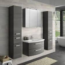 details zu badezimmer set 80cm waschtisch mit unterschrank keramik waschbecken hochschrank