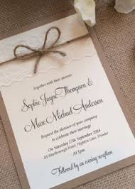 Vintage Rustic Lace Wedding Invitation With Twine