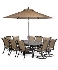 Macys Patio Dining Sets by Branson Outdoor Patio Furniture 11 Piece Set 84 X 60 Rectangular