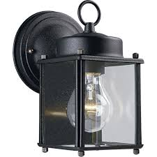 progress lighting p5607 09 wall lantern with clear glass brushed