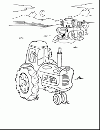 Awesome Cars Mater And Tractor Coloring Pages With Lightning Mcqueen Page