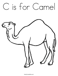 C Is For Camel Coloring Page