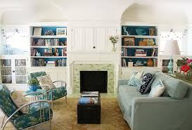 Living Room With Fireplace And Bookshelves by Retro Living Room Ideas With Fireplace And Bookshelves