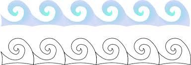 Wave clipart outline 4