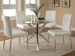 Contemporary Glass Top Dining Tables Elegant Table Set 4 Chairs Home
