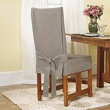 sure fit cotton duck long arm dining room chair cover