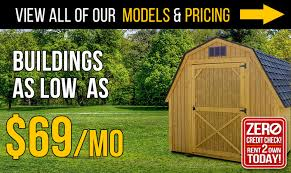 Pre Built Sheds Columbus Ohio by Rent To Own Sheds And Buildings Backyard Outfitters