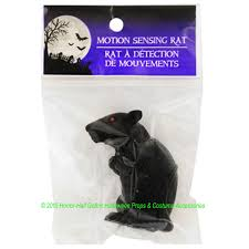 Diy Motion Activated Halloween Props by Motion Sensor Sensing Mini Black Squeaking Rat Rodent Sounds