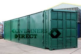 100 Shipping Container 40ft SHIPPING CONTAINERS With 2 Sets Of Doors In Side SD40 Case